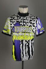 TOURPLUS 90er vintage Radtrikot Gr. M-L BW 52cm Rad cycling Bike Shirt 90s RV2