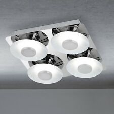 WOFI Plafonnier LED Space 4 BRAS CHROME intensité variable 24 Watt 2200 Lumen de