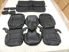 Leather Seats Upholstery Covers Fits Silverado LS WT Sierra Double  2016-19 E36