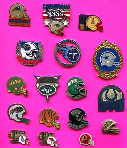 NFL FOOTBALL PINS HELMET PINS & More BUY 1-2-3 OR ALL 18