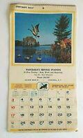 Vintage Calendar 1971 Sportsman's Digest Tips Pangman's Service NY Advertising
