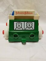 Vintage Johnson & Johnson Stack and Dump Truck Toy Made in USA 1983w/ Pieces