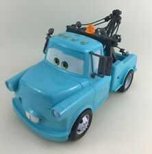 "Disney Pixar Cars 11"" Tow Mater Talking Lights Sounds Towing Salvage Blue 2007"