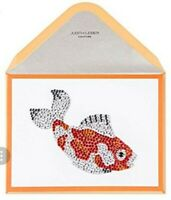 RARE Papyrus KOI FISH Card by Judith Leiber Couture Matching Envelope Seal Blank