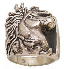 Mens - Silver Plated - Horsehead Ring - Size 14 - R-23 - Made in the USA