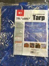 "HFT light Duty Resistant Tarp 7ft 4"" X 9ft 6"" 4 Mil Weather Resistant"