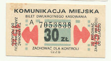 "POLEN -- ""2er"" Ticket -- 30 Zloty -- alt, interessant !!!"