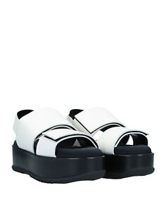 "Marni sandals white leather NIB $380 EU Sz 39  10"" insole MADE IN ITALY"