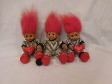 "Troll Doll 6"" Russ Plush Prisoner of Love Vinyl Face Soft Body lot of 3"