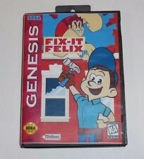 Fix it ( Fix-it ) Felix Jr for Sega Genesis! Cart and Box!