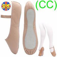 Pink Leather Ballet Dance Shoes, full suede sole elastics irish jig pumps (CC)