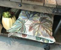 Pottery Barn Leaf Applique Pillow Cover 24 sq Oversized Autumn Fall Thanksgiving