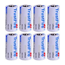 8pcs Trustfire 1400mAh CR123A 16340 Lithium Li-ion Batteries 3V Battery