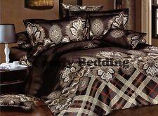 Paisley Luxury Cotton Bedding Set:1 Duvet Cover 2 Pillowcases, Queen/King/Cal K