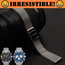 HERITAGE 22mm 24mm Mesh Stainless Steel Watch Band Bracelet For Breitling