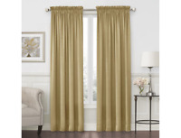 """JCPenney Home Hilton Rod-Pocket Curtain ONE Panel 54""""W X 84""""L Pure Gold"""