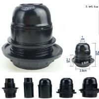 UK E27 Screw ES Base Cap Retro Vintage Black Light Bulb Lamp Holder Socket DIY