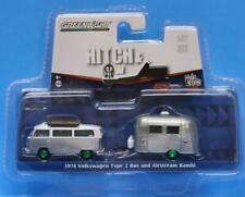 GREENLIGHT Hitch & Tow V-DUB CLUB 1974 VW TYPE 2 BUS & AIRSTREAM BAMBI CHASE