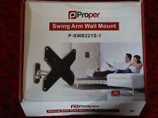 Adecuado de aluminio del brazo del oscilación TV Soporte De Pared Led Lcd P-SWB221S-1 GRATIS UK FRANQUEO