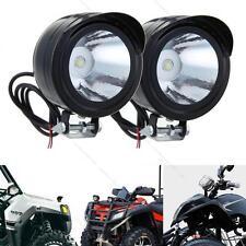 2x Universal Electric Motorcycle Lamp #R LED Fog Spot Lights Headlight White 12V