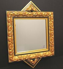 Modern Contemporary Black Gold Red Mirror Designer Decorative Custom Mirror