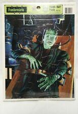 Vintage Frankenstein Universal Monsters Frame-Tray Puzzle Golden New & Sealed
