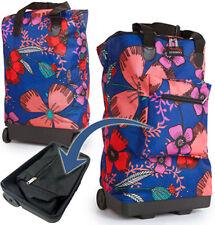 c037cc94ba Lightweight 2 Wheeled Folding Shopping SHOPPER Cabin Travel Bag Trolley  Ryanair Pretty Petals Blue