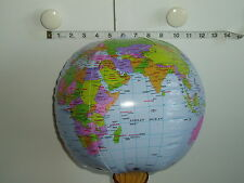 """4 x 33"""" (84cm) INFLATABLE GLOBES - WORLD EARTH MAP ATLAS.-Party bag  filler"""