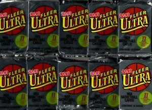 Lot of 10 1992-93 Fleer Ultra II Basketball Packs w/Shaquille O'Neal RC???