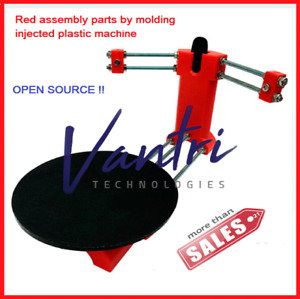 Open Source Ciclop DIY Red assembly Parts by Injected Plastic  3D Laser Scanner