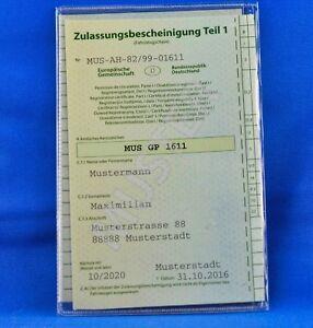 Fahrzeugschein Mappe Ausweishülle Schutzhülle Etui Hülle Schein Führerschein KFZ