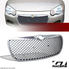 For 2004-2006 Chrysler Sebring Chrome Luxury Mesh Front Bumper Grill Grille Abs
