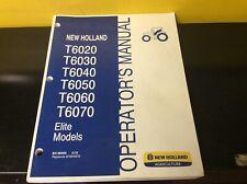 NEW HOLLAND T6020 T6030 T6040 T6050 T6060 T6070 TRACTOR OPERATORS MANUAL DN301