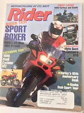 Rider Magazine BMW's R1100S Buell Cyclone October 1998 051117nonrh