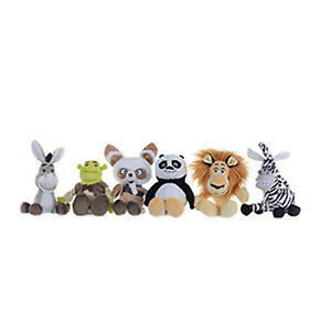 """Kung Fu Panda, Shrek and Madagascar 8"""" toy plush characters to choose from NEW"""