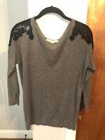 Ann Taylor Loft Womens Grey Sweater Size Medium