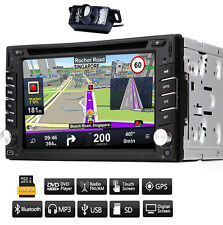 "Autoradio 6.2"" 2Din Car DVD CD Player GPS USB SD Stereo Audio BT+8G mappa+Camera"