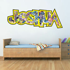 Childrens Personalised Name Wall Stickers Pokemon Sticker Bedroom art