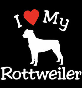 Pair of I Love My Dog ROTTWEILER Pet Car Decals Stickers Ready to Apply