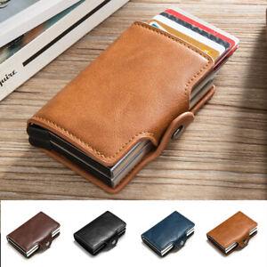 Mens RFID Blocking Leather Slim Wallet Money Clip Credit Card Holder Purse