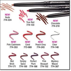 AVON TRUE COLOUR GLIMMERSTICK LIP LINERS ~ VARIOUS SHADES ~ FREE POSTAGE