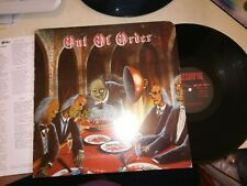 OUT OF ORDER Paradise lost USA LP EX 1986 Punk Hardcore + insert