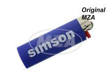 Simson Encendedor BIC azul Tapa de cromo Letras: Rápido Flitzer de Suhl