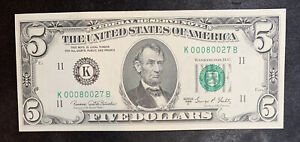 1969 C $5 Federal Reserve Note