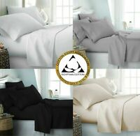 100% Egyptian Cotton 500 Thread Count Bedding Fitted Flat Sheet Duvet Quilt Set