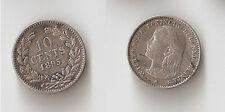 Netherlands 10 cents 1895 Wilhelmina I Rare!!!