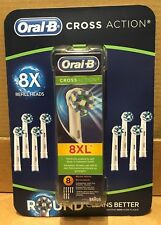 Oral-B Cross Action Electric Toothbrush Replacement Brush Heads (Pack of 8XL)