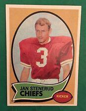 1970 TOPPS #25 JAN STENERUD KANSAS CITY CHIEFS FOOTBALL CARD NM *0047