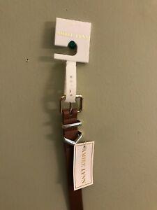 NWT Amiee Lynn L/XL Brown Patent Leather