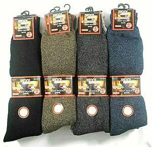 6 PAIR Mens Long Wool Socks,THICK Wool SOCK LONG HOSE 6-11 ASSORTED LONG 2.3 TOG